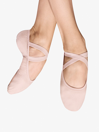 """Girls """"Performa"""" Canvas Split Sole Ballet Shoes - Style No S0284G"""
