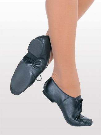 """Jazzsoft"" Adult Lace Up Jazz Shoe - Style No S0405L"
