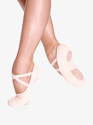 "Girls ""Bliss"" Split-Sole Canvas Ballet Shoes - Style No SD16C"