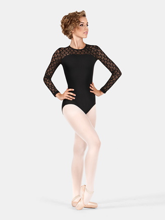 Adult Lace Long Sleeve Leotard - Style No SIL88200x