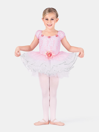 Child Rose Lace Tutu Dance Costume Dress - Style No SK582