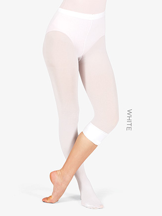 Adult Plus Size Convertible Tights with Smooth Self-Knit Waistband - Style No T5515P
