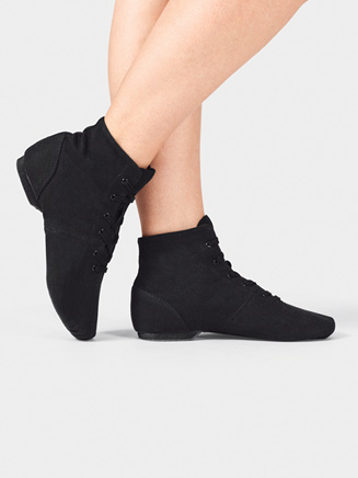 """Adult """"Broadway Jazz"""" Over the Ankle Canvas Jazz Boot - Style No T7502"""