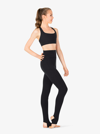 Womens High Rise Stirrup Dance Leggings - Style No TB205W