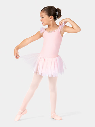 Child Flutter Sleeve Ballet Dress - Style No TH5121C