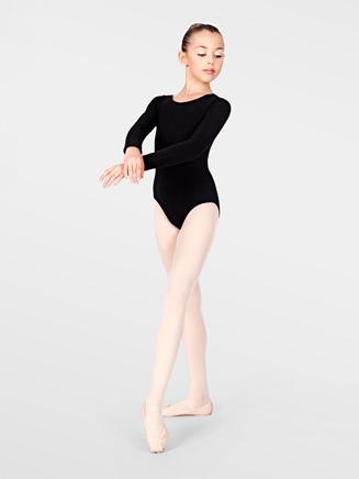 Child Cotton Blend Long Sleeve Dance Leotard - Style No TH5507C
