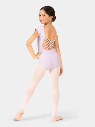 Girls Short Sleeve Triple Crisscross Back Leotard - Style No TH5524C