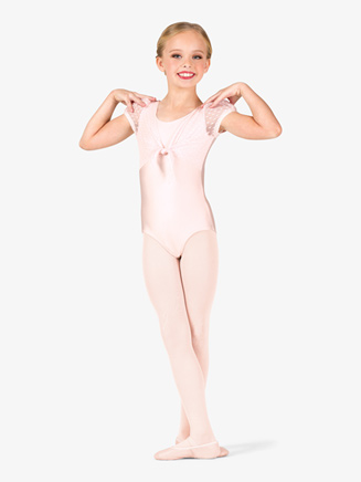 "Girls ""Heart Flock"" Mesh Puff Short Sleeve Leotard - Style No TH5541Cx"