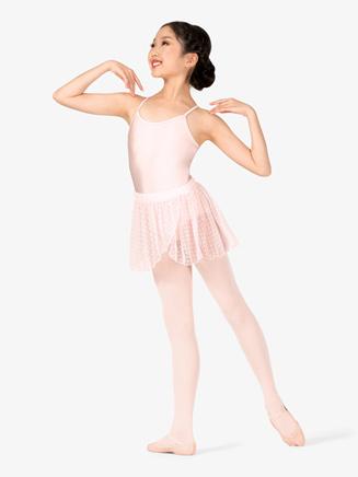 Girls Heart Mesh Mock Wrap Pull-On Ballet Skirt - Style No TH5545C