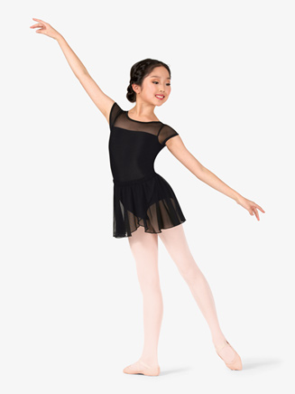 Girls Mock Wrap Pull-On Ballet Skirt - Style No TH5554C
