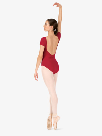 Womens V-Back Short Sleeve Leotard - Style No TH5559
