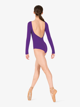 Womens Boatneck Long Sleeve Leotard - Style No TH5560