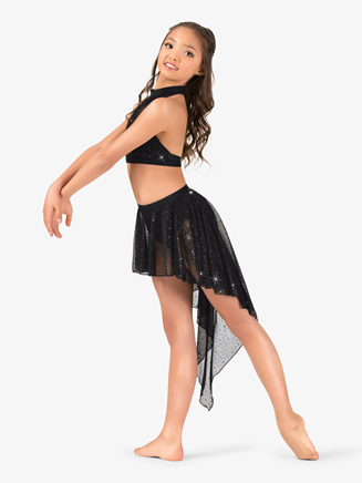 Girls Performance Sheer Twinkle Sequin Mesh Pull-On Skirt - Style No TW310