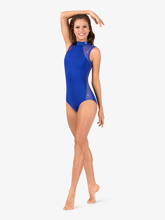 Womens Performance Twinkle Mesh Insert Tank Leotard - Style No TW622x