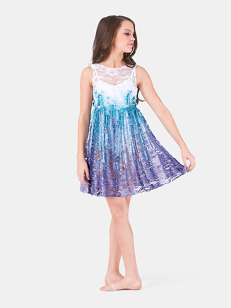 Girls Tank Lace Overdress - Style No WC203C