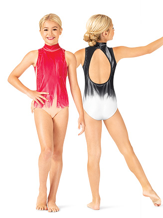 Girls Hand Painted Mock Neck Tank Leotard - Style No WC222Cx