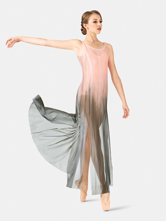 Adult Hand Painted Long Tank Mesh Lyrical Dress - Style No WC232x