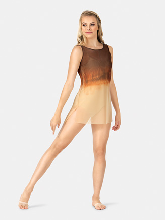 Adult Painted Boatneck Mesh Tank Dress - Style No WC235