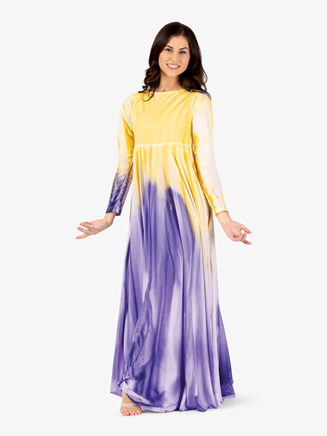 Womens Painted Circle Worship Dress - Style No WC5190