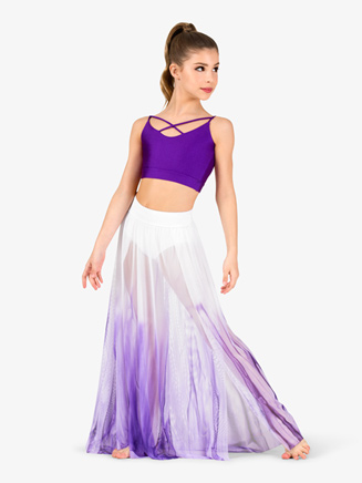 Girls Hand Painted Floor-Length Lyrical Skirt - Style No WC7240C