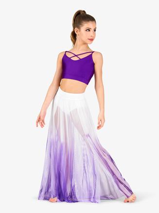 Girls Hand Painted Floor-Length Lyrical Skirt - Style No WC7240C