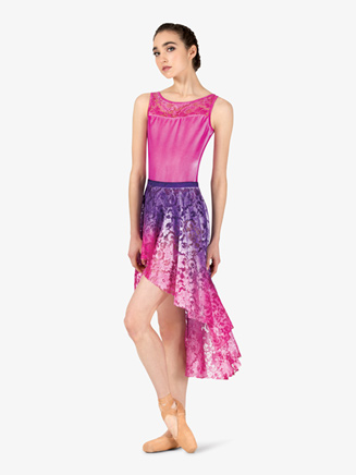 Womens Hand Painted Asymmetrical Lyrical Skirt - Style No WC7262