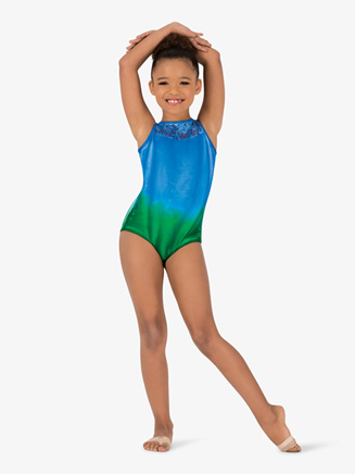 Girls Hand Painted Lace Tank Leotard - Style No WC7264C