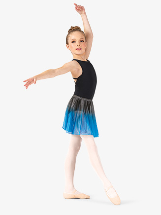 Girls Hand Painted Mesh Ballet Skirt - Style No WC777C