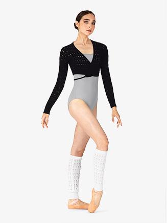 "Womens ""Venetia"" Cotton Knit Long Sleeve Wrap Top - Style No Z5539"