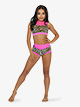 Girls Animal Print High Waist Dance Shorts - Style No CS1738C