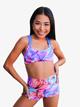 Girls Paradise Print High Waist Dance Shorts - Style No K17777C